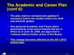 the academic and career plan cont d