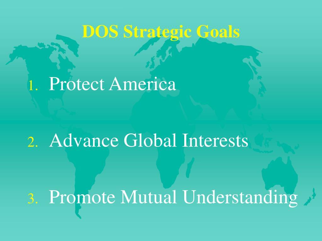 DOS Strategic Goals