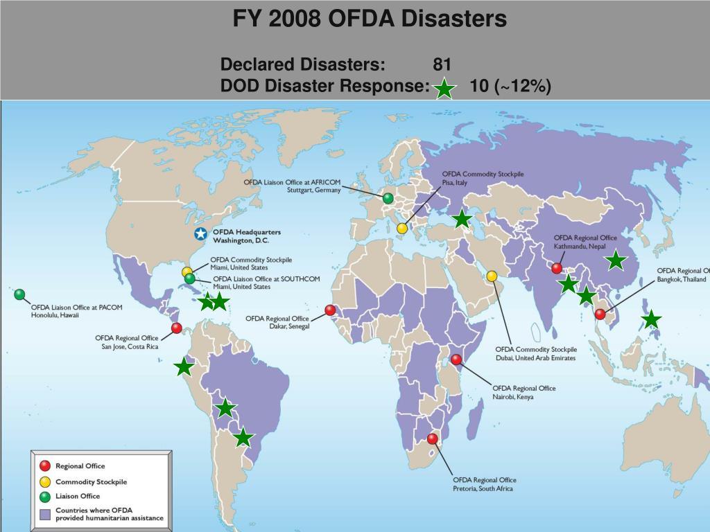 FY 2008 OFDA Disasters