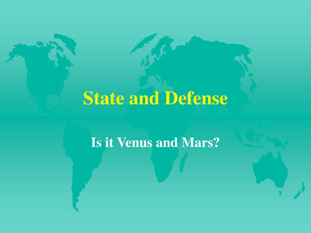 State and Defense