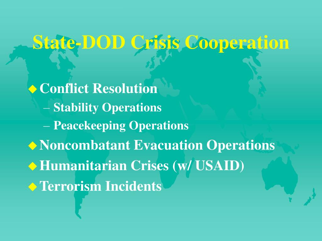 State-DOD Crisis Cooperation