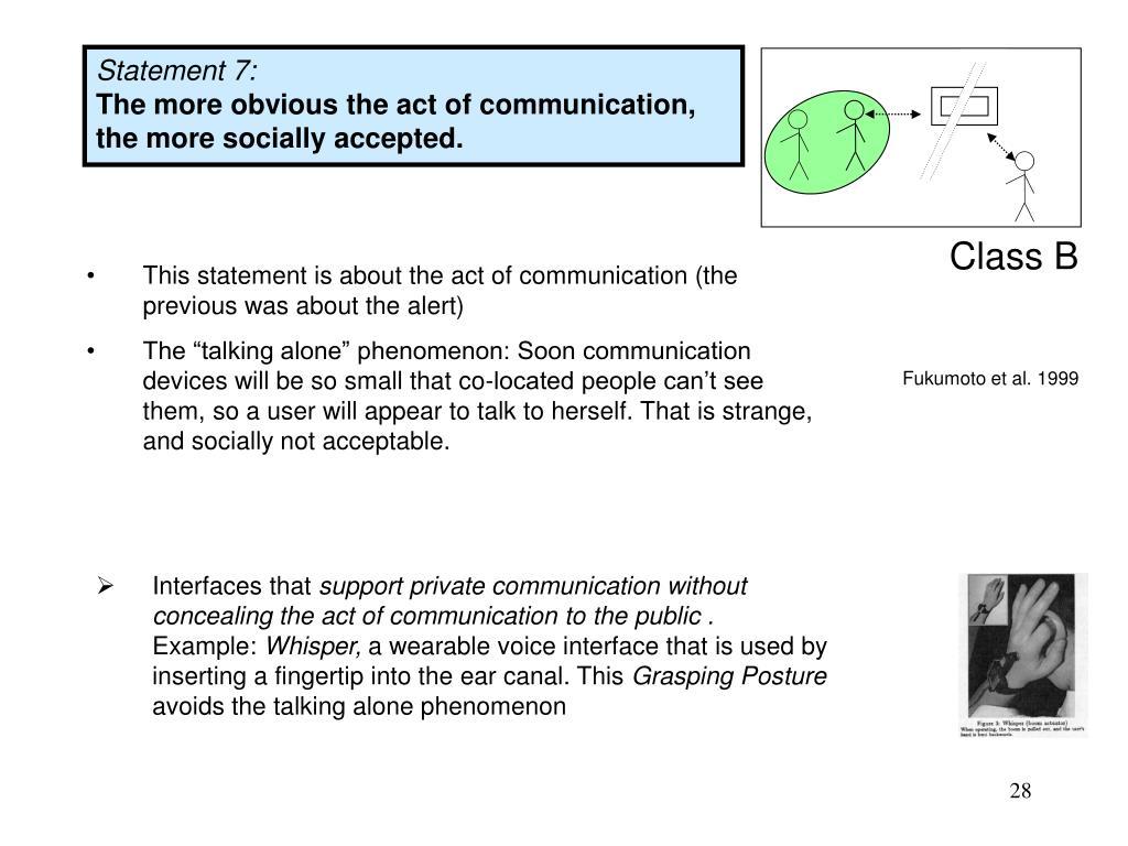 Statement 7: