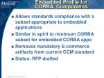 embedded profile for corba components