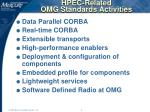 hpec related omg standards activities