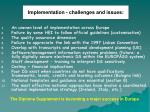 implementation challenges and issues