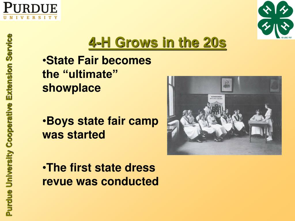 4-H Grows in the 20s