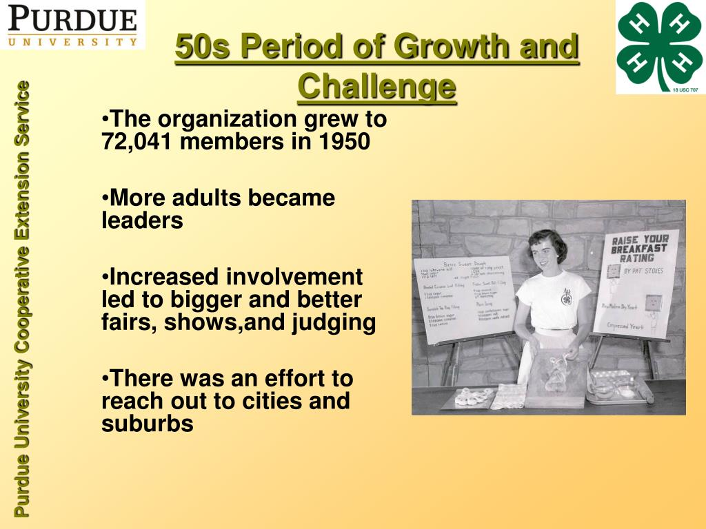 50s Period of Growth and Challenge