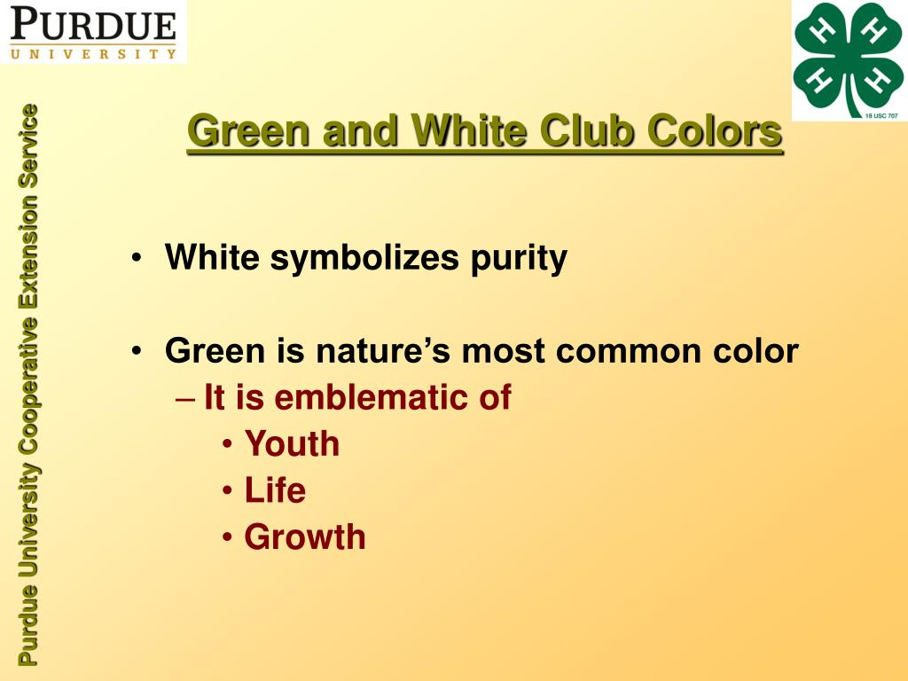 Green and White Club Colors
