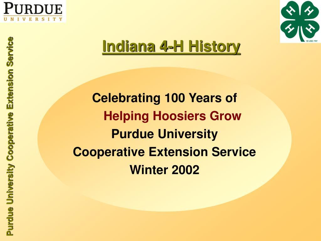 Indiana 4-H History