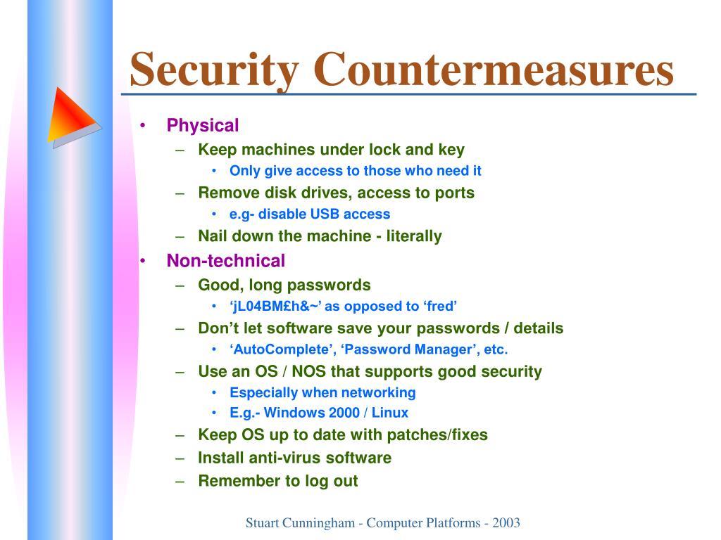 Security Countermeasures