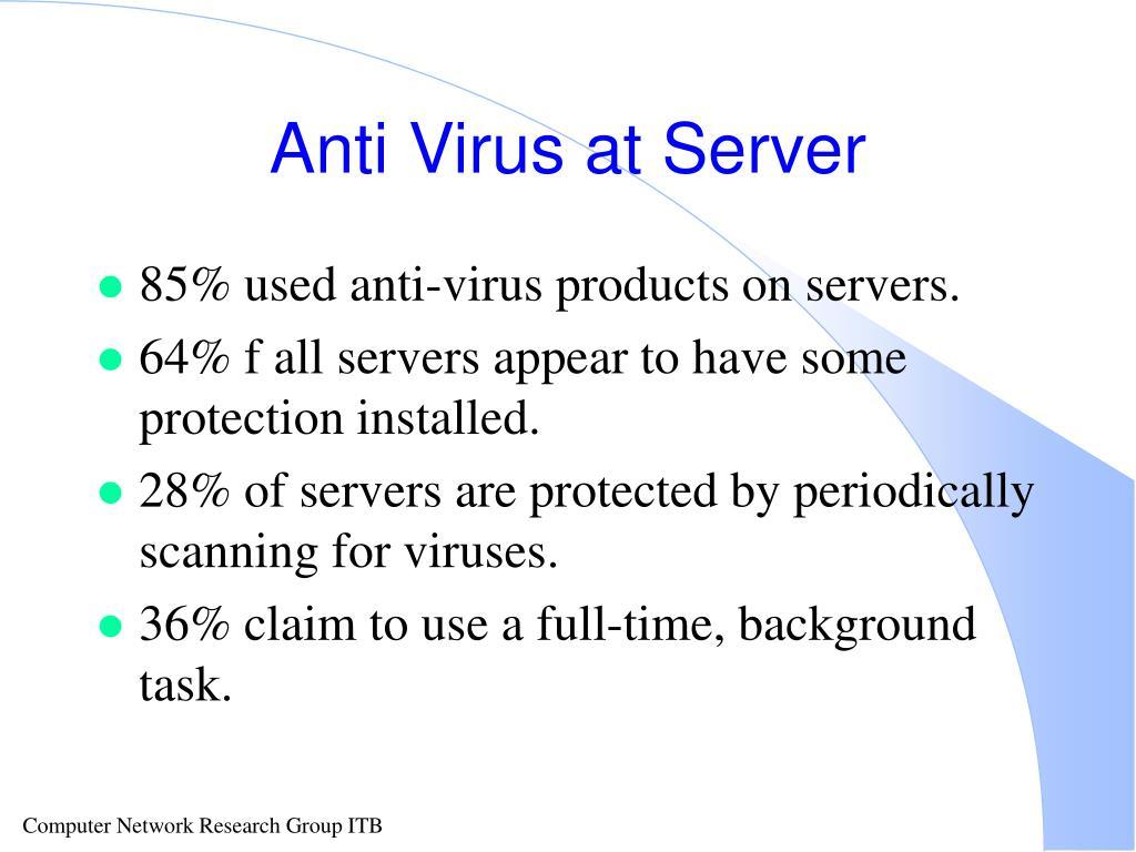 Anti Virus at Server