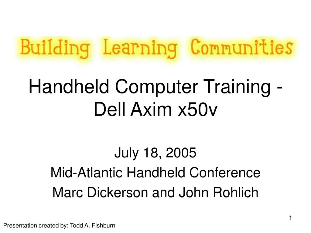 handheld computer training dell axim x50v l.