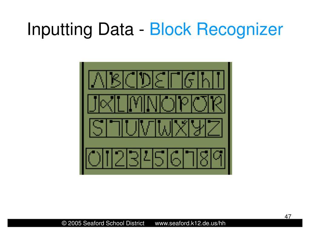 Inputting Data -