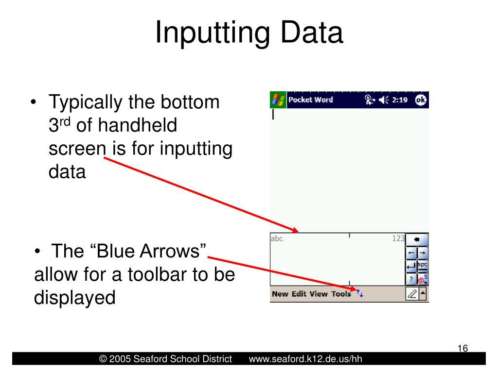 Inputting Data