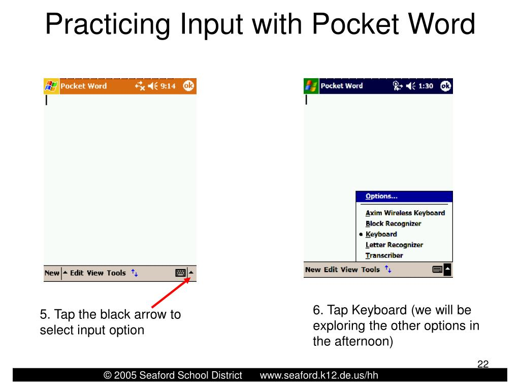 Practicing Input with Pocket Word