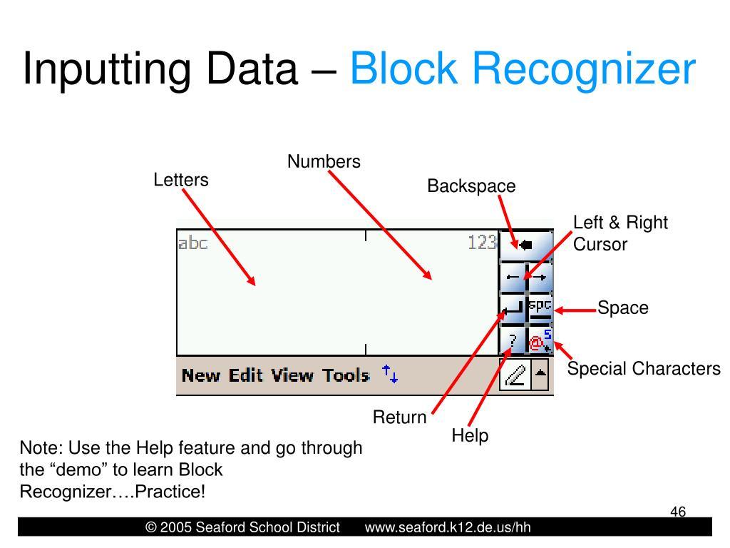 Inputting Data –