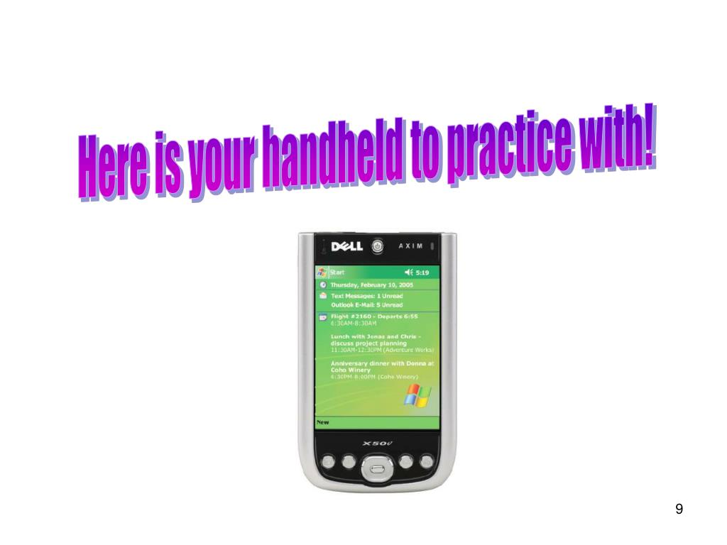 Here is your handheld to practice with!
