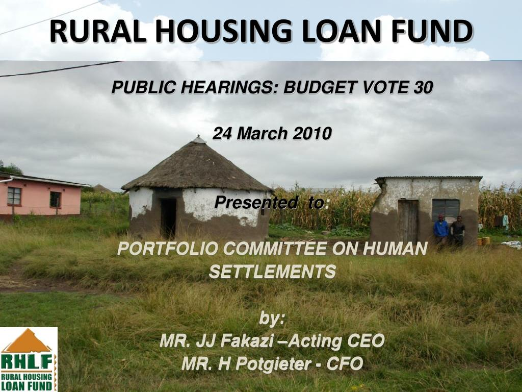 rural housing loan fund l.
