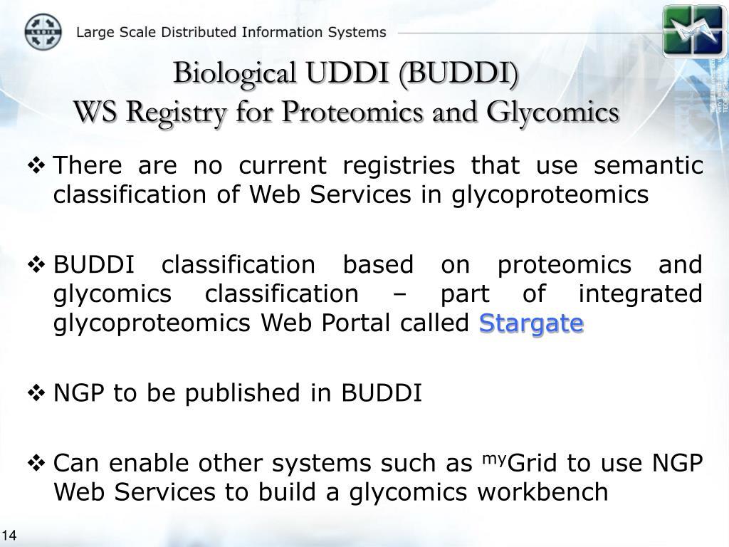 Biological UDDI (BUDDI)