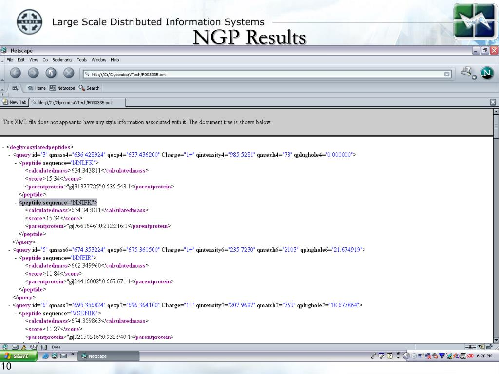 NGP Results