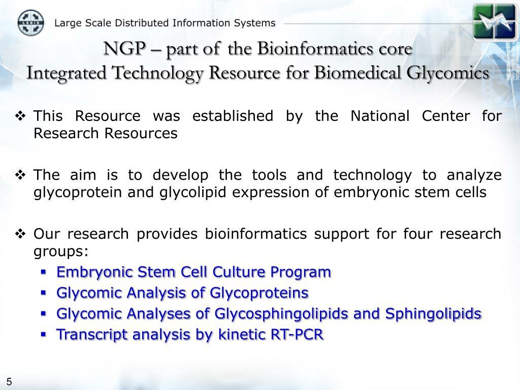 NGP – part of the Bioinformatics core