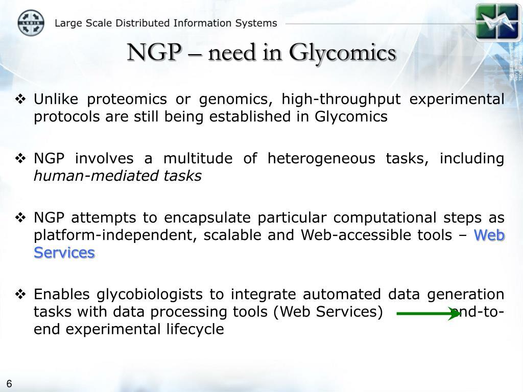 NGP – need in Glycomics