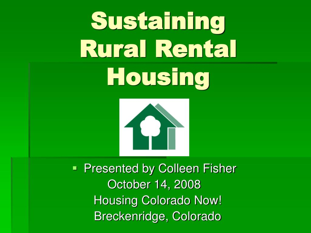 sustaining rural rental housing l.