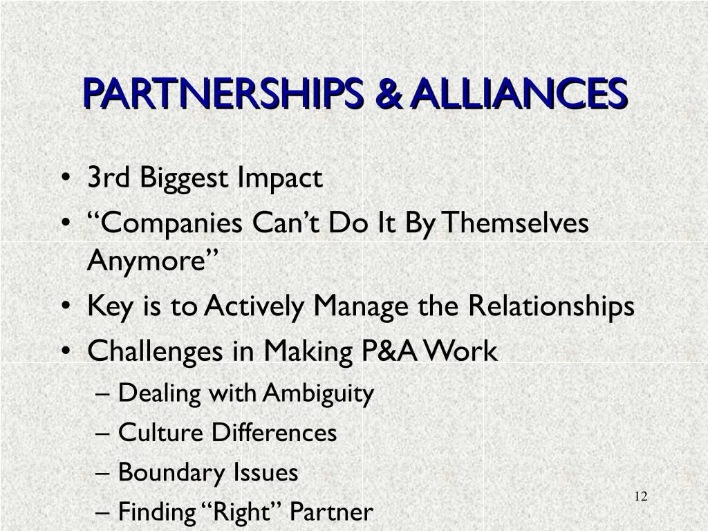 PARTNERSHIPS & ALLIANCES