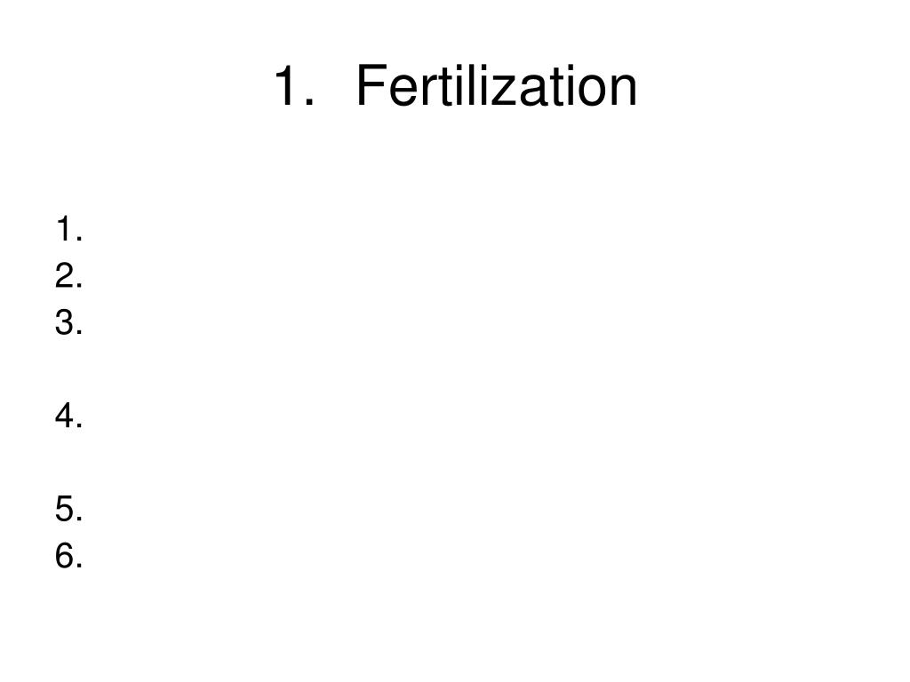 Fertilization