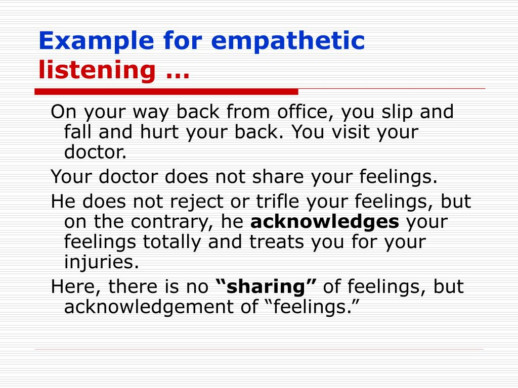 Example for empathetic