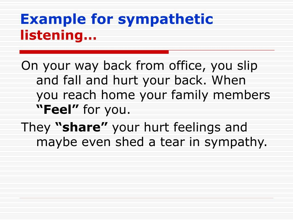 Example for sympathetic