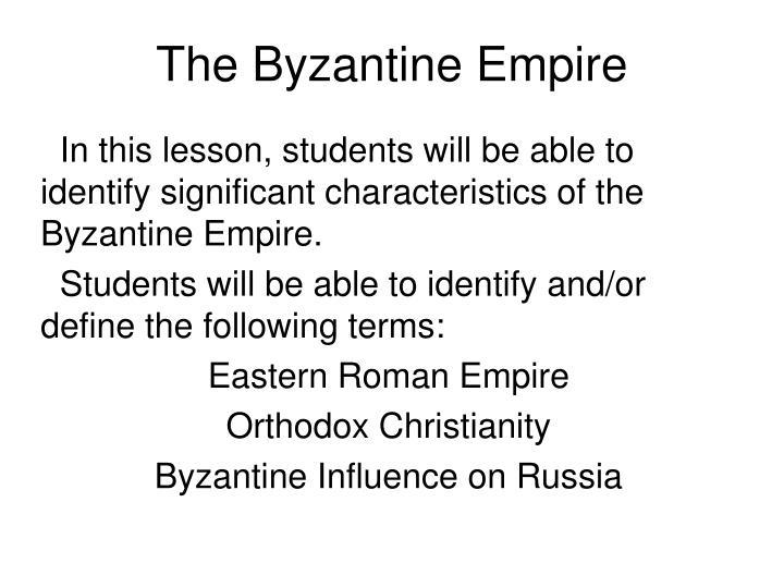 the byzantine empire n.