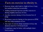 facts on exercise in obesity tx