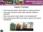 inquiry context