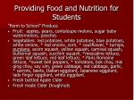 providing food and nutrition for students17