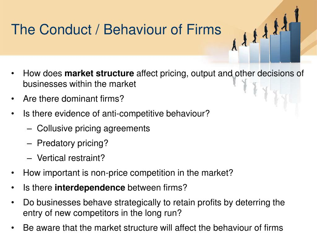 how market structures determine the pricing and output decisions of business