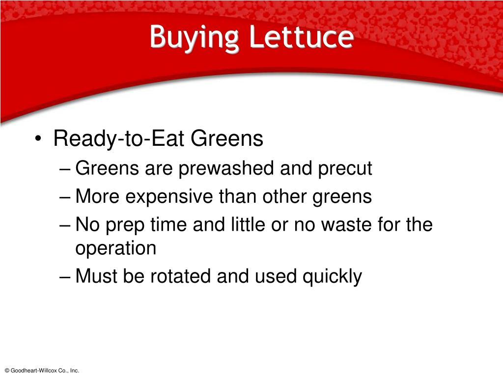 Buying Lettuce