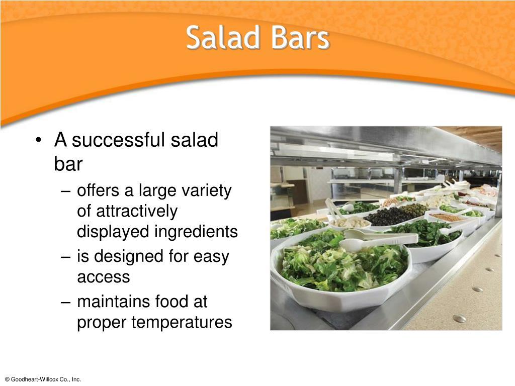 A successful salad bar