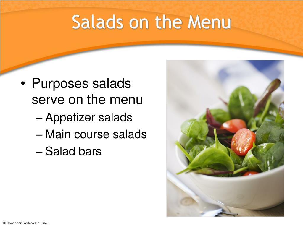 Salads on the Menu