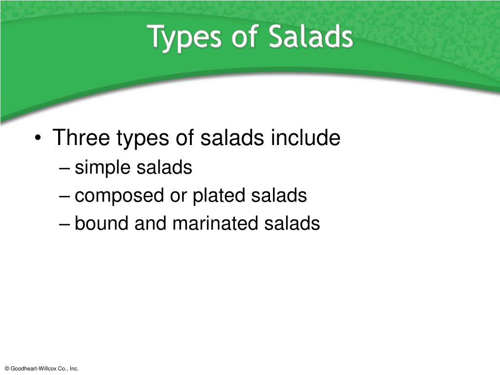 Types of Salads