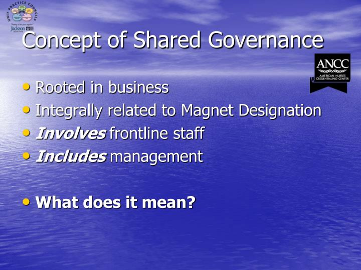 shared governance empowering the staff An evaluation of the impact of shared governance on staff nurse perceptions   relationships between perceptions of workplace empowerment,.