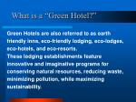 what is a green hotel