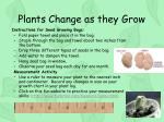 plants change as they grow