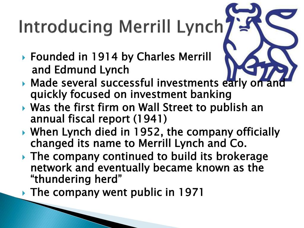 merrill lynchs investment philosophies Merrill lynch® investment professionals1 philosophy manager's beliefs when you choose to invest with merrill edge select portfolios, a merrill edge.