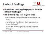 about feelings