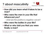 about masculinity