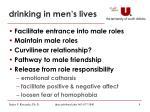 drinking in men s lives