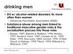 drinking men