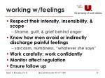 working w feelings
