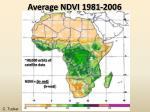 average ndvi 1981 2006